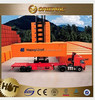 4x2 6 Wheels Tractor Truck Trailers & new three axles Low-bed semitrailer , truck trailer spare parts