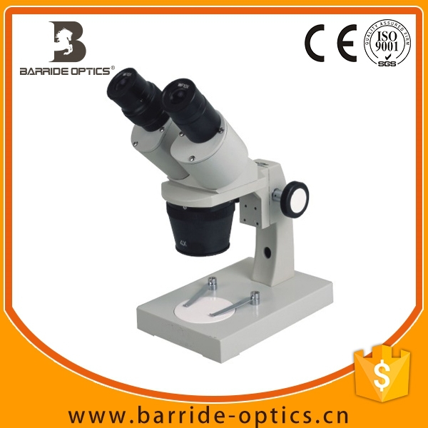 (BM-6A)Research 10X-40X Economical Dual Stereo Microscope with 3 Objectives for School Laboratory