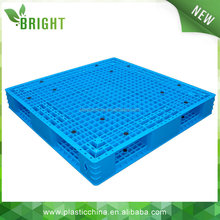 4 Way Double Deck rackable and stackable plastic pallet for racking, stacking and ground floor application