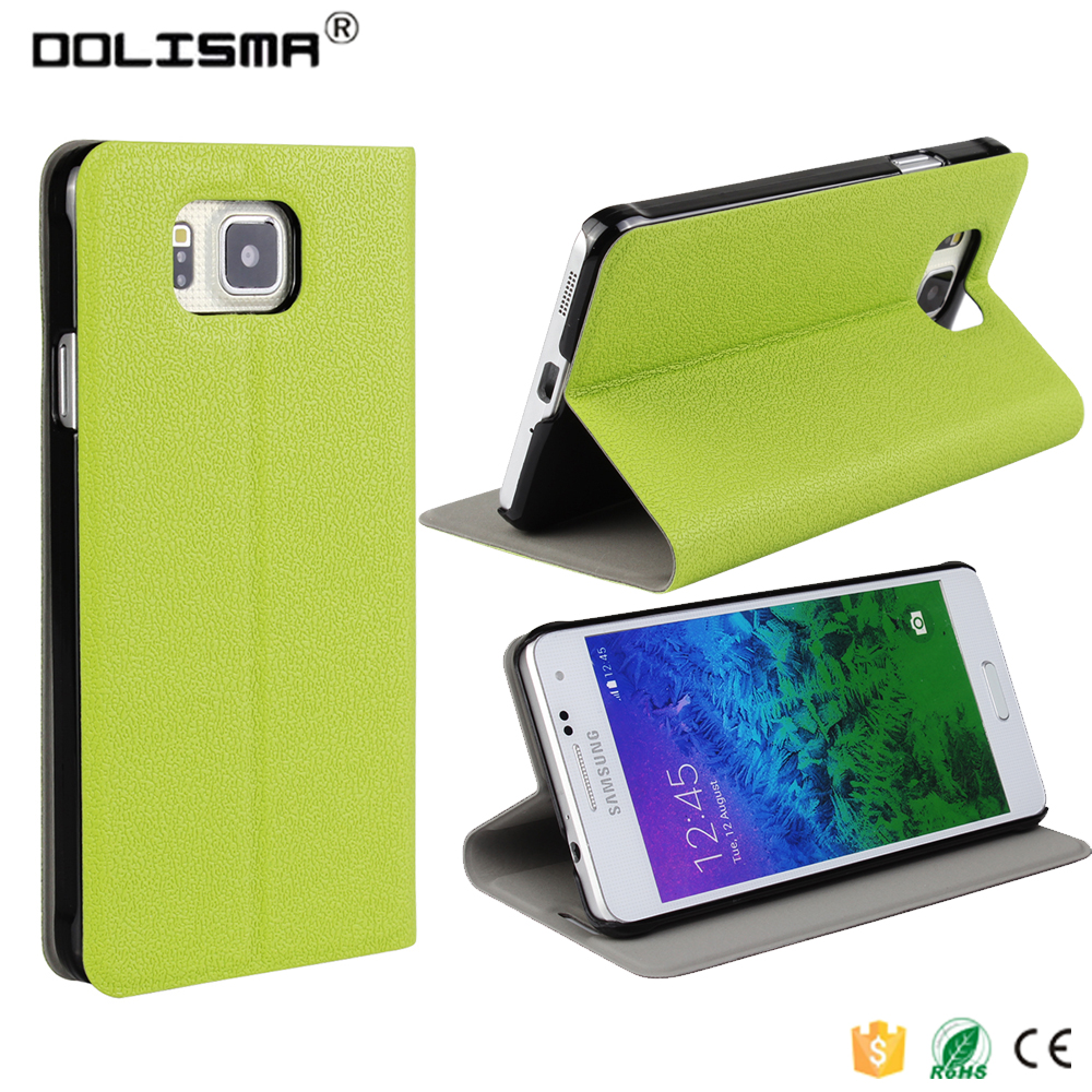 Topratesell Fashion Pu Leather Flip Case Flip Stand Case for Samsung Galaxy Alpha G850