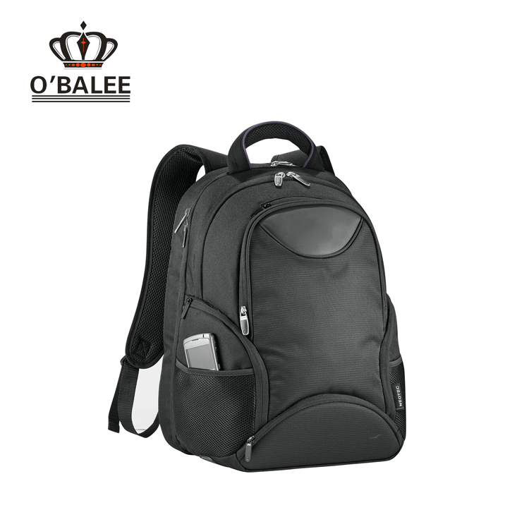 "Top quality black cordura softback business 15"" laptop backpack for laptop"