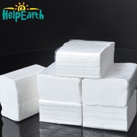 Custom eco-friendly white color fabric cocktail napkins 100% bamboo pulp