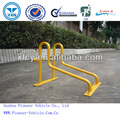 Steel Bike Rack for Public Spaces Powder Coated Yellow