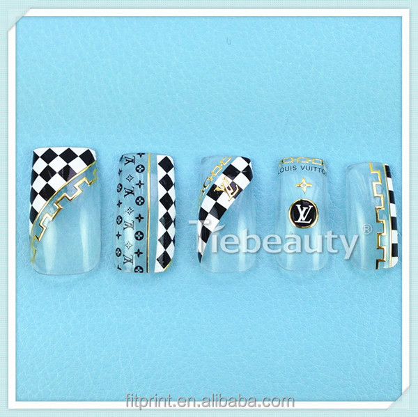 2016 Tiebeauty nail sticker packaging for nail stickers/3D nail art decal/Custom nail art accessory