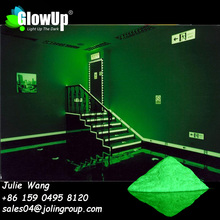 YG-C1 JOLIN glow in the dark pigment big size for road marking paint on concrete surface Strontium aluminate luminescent pigment
