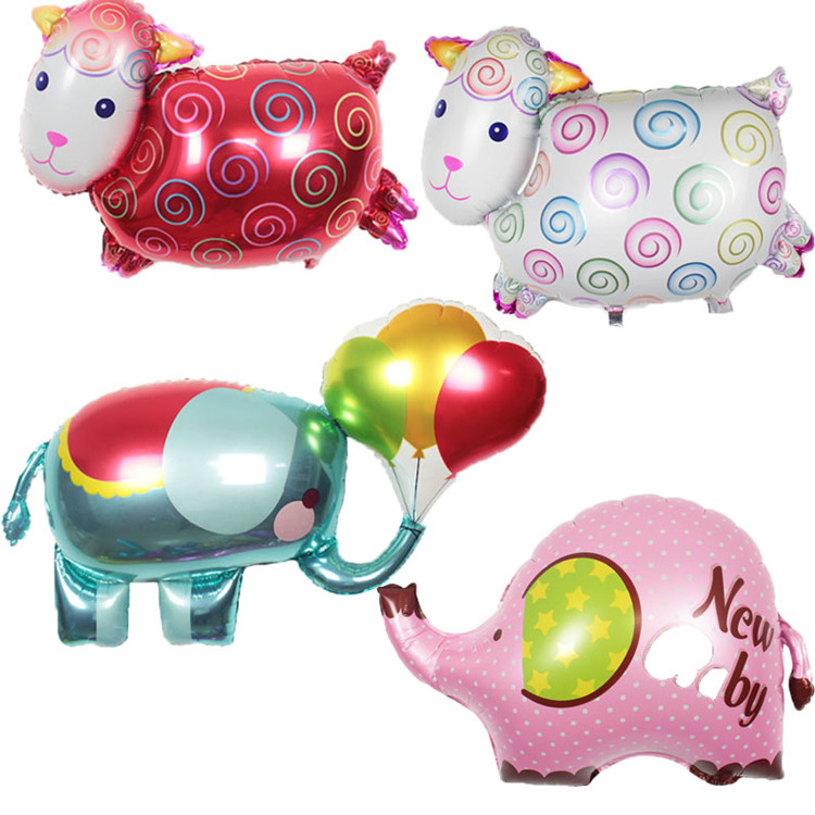 wedding birthday decoration cartoon balloon Colorful foil mylar Sheep elephant shaped balloons foil Animal goat Balloons
