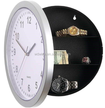 Plastic Home Decor Jewelry Security Box Hidden Stash Safe Storage Wall Clock