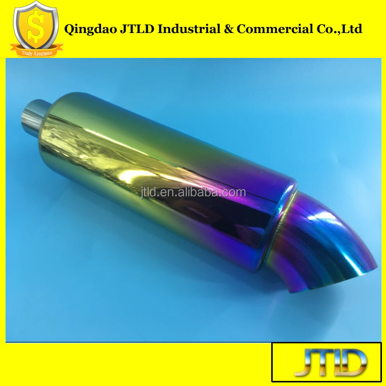 high performance rainbow racing car exhaust muffler
