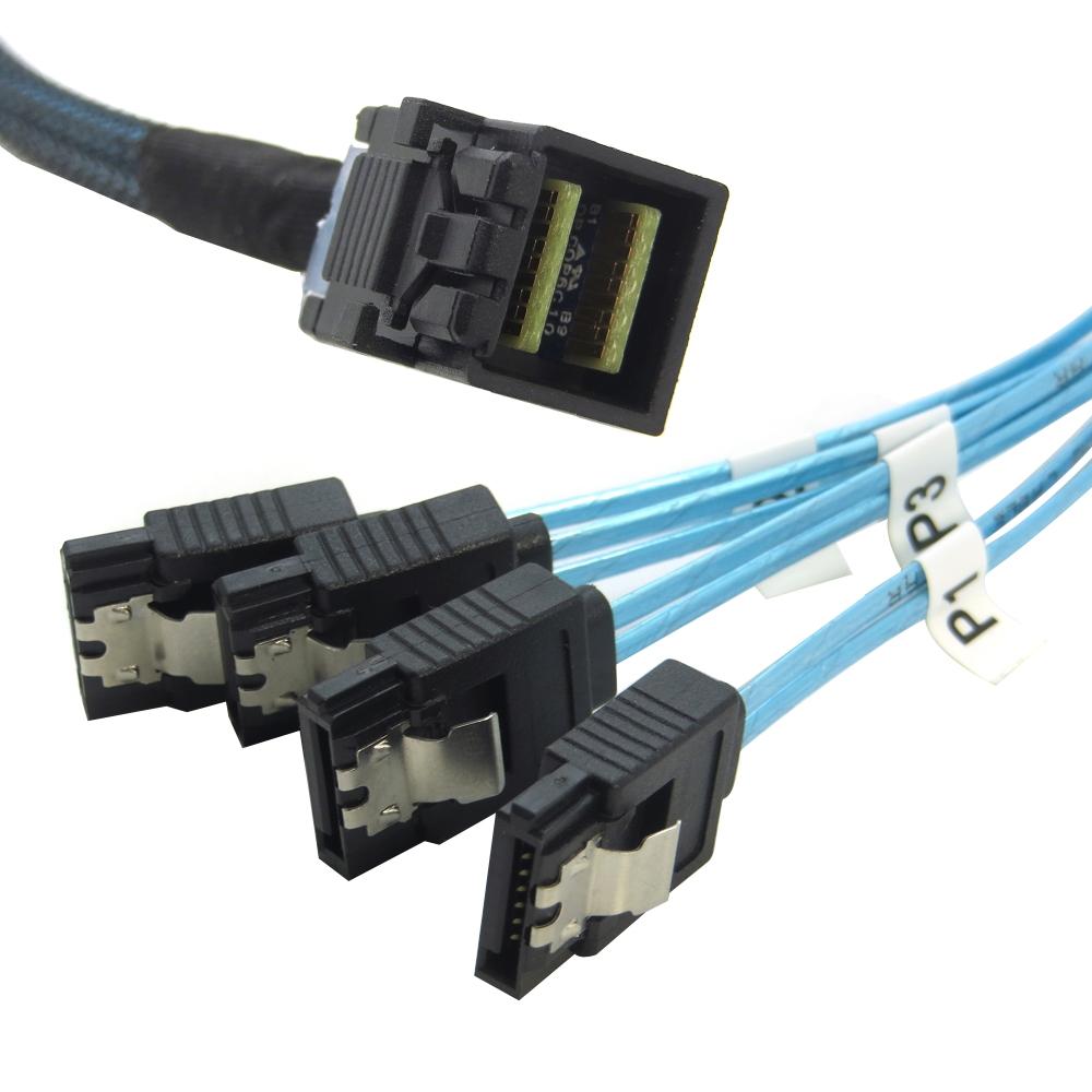 Amphenol  36Pin SFF-8643 to Mini SAS 36pin SFF-8087  Raid Data Cable 70CM//60CM