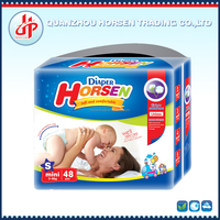 Wholesale horsen baby diaper high quality disposable sleepy baby diaper