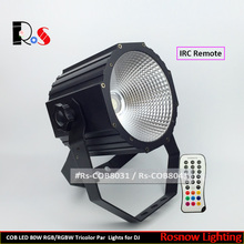 Sound control COB par light with IRC 80w led stage spotlight 4in1 RGBA