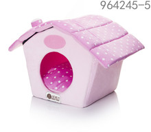 best selling hotsale cheap christmas pink house shape pet dog beds house with removable cushion