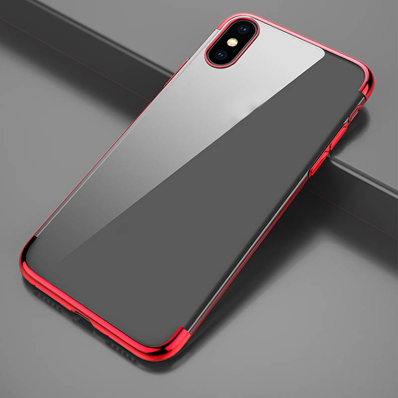 Soft TPU case for iPhone X cases ultra thin transparent plating shining case for iPhone X Mixed silicon cover