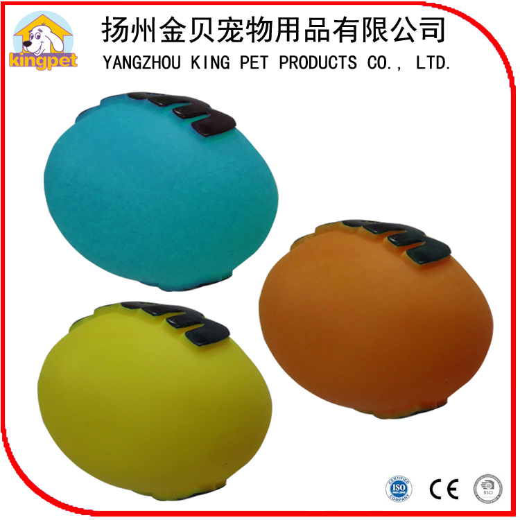 Eco friendly customized colorful squeaky rubber ball for dogs