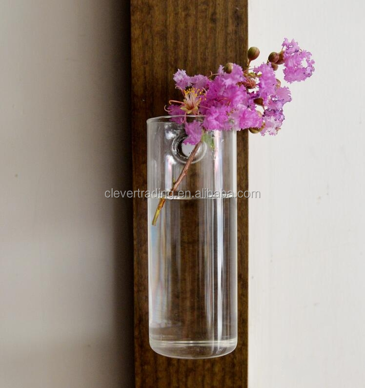 Wholesale different types home decoration glass vase wall hanging flower vase for sale