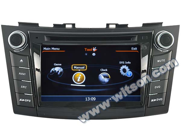 WITSON SUZUKI SWIFT 2012 CAR RADIO WITH A8 CHIPSET DUAL CORE 1080P V-20 DISC WIFI 3G INTERNET