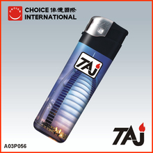 TAJ Brand Dubai building sticker cigarette lighter with photo