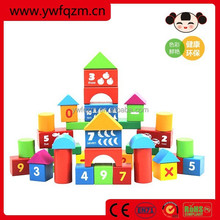 Wholesale colored wooden building blocks