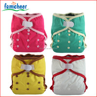 China Famicheer Modern Hook And Loop Reusable Diaper Covers Bamboo Inserts