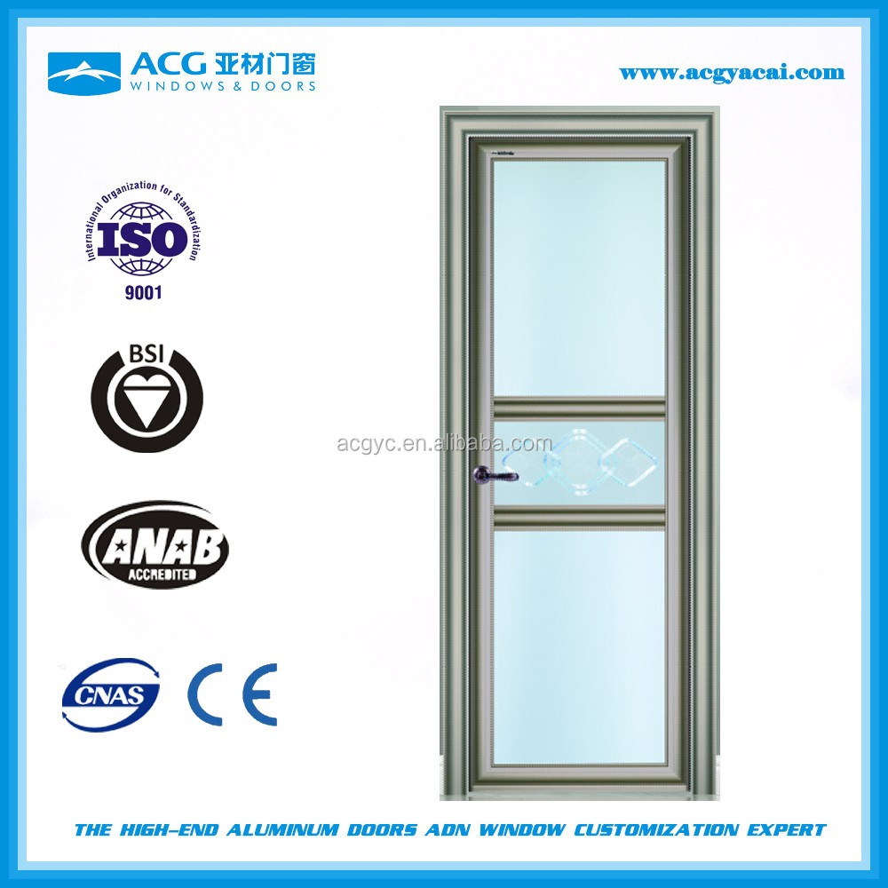 Economic corrosion resistant <strong>aluminum</strong> glass swing front door China manufacturer