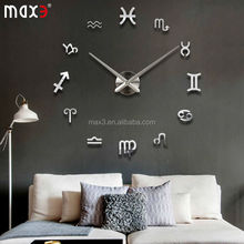 Original brand 3D Acrylic Mirror Clock Wall Decal Home Decoration for Living Room Bedroom