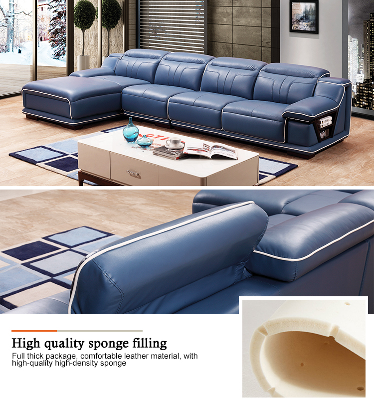 100% Top Grain Luxury Made In China Buffalo Superb Leather Sofa