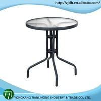 fashion out door round table/tempered glass dining table