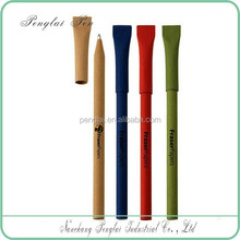 ecological promotation colorful recycled paper pen