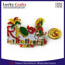 Lucky Gifts Bright Colorful Soft Enamel Gold Lapel Pins With Letters