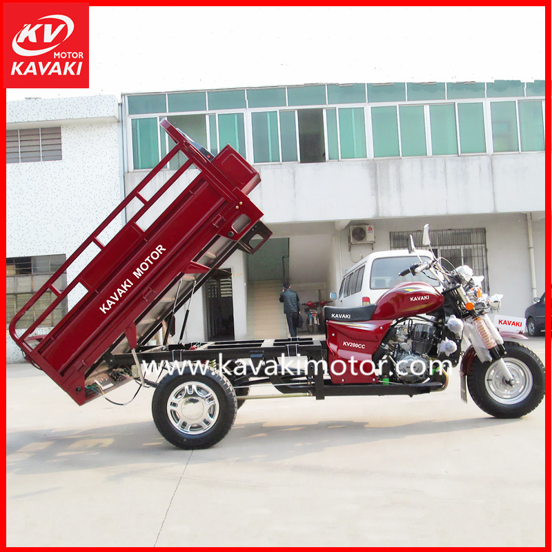 Nigeria Popular Cargo Model 200CC Agriculture Motor Tricycle Truck CKD Packing