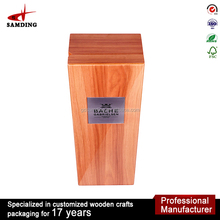 High Quality Custom Wine Box Carrier Wood Packaging Bottle Box