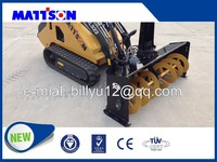 snow cleaning machine mini skid steer loader with snow blowers