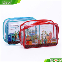 hotsale factory customized transparent PVC zipper cosmetic bag