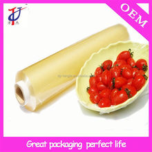 Alibaba China factory price hot film plastic tablecloth rolls pvc food grade stretch wrap film
