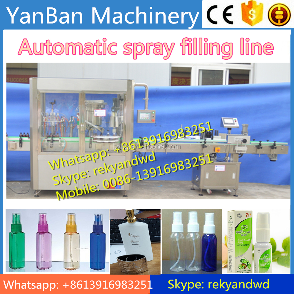 Automatic Small Perfume Bottle Filling Machine, spray filling and capping line