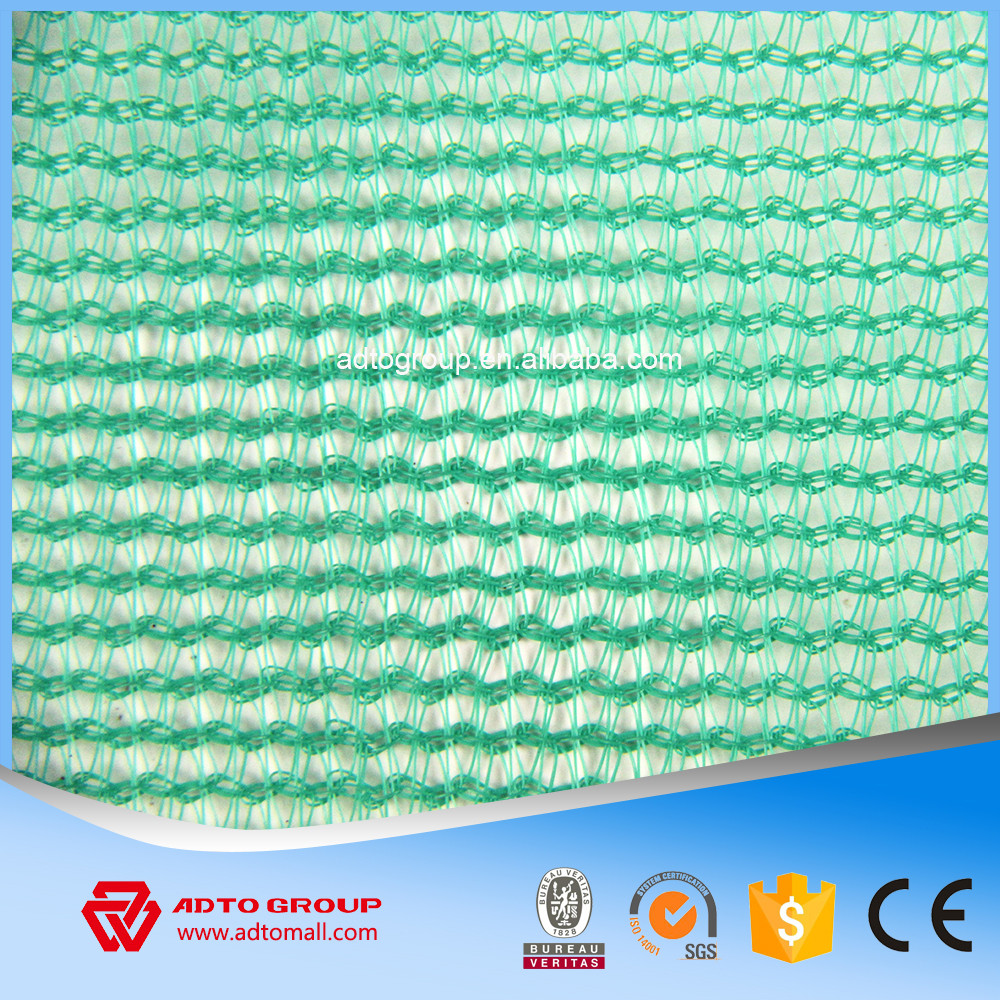 60g HDPE fall arrest construction safety netting with knitted kyelet
