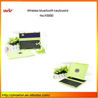 P3000 New 360 Degree Rotating Case Cover Stand Wireless Bluetooth Keyboard for iPad 2/3/4 with Split fine turkish language