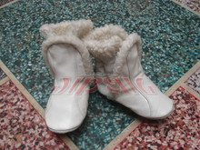 Toddler leather baby shoes booties