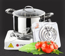 2015 modern square sheel single burner portable tubular electric coil hot plate 110v