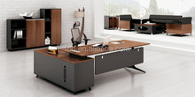 Guangzhou Modern School Office Supervisor Wooden Office Desk Design (FOH-HTB241)