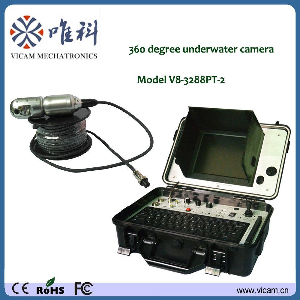 CCTV camera with voice recorder Pan Tilt 360 degree video underwater camera