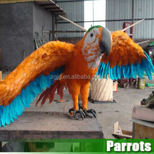 Great Quality Animal Animatronic Simulation Life Size parrots