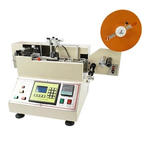 Good price auto digital small fabric satin label cutting machine 125mm width