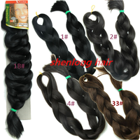 "82"" 31 Colors Expression Braid 165G Ultra Expression Braiding Hair Synthetic Crochet Box Braids Hair Jumbo"