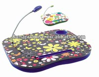 48*38cm Lap Tray for laptop, laptop tray with LED light,