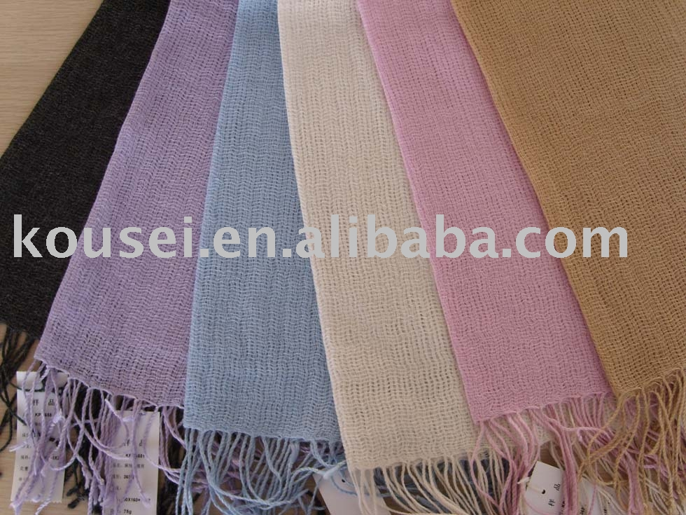 hemp and cashmere scarf