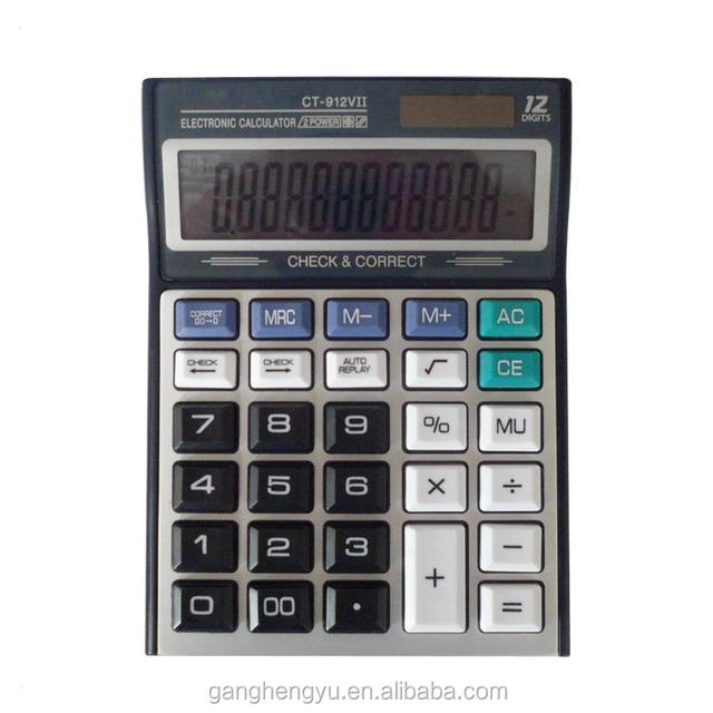 12 digits Large Screen display Double Power Electronic Calculator