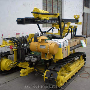 Outdoor Crawler blast hole rock drilling for marble