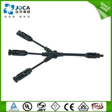 Y TYPE 2 to 1 IP68 MC4 branch solar cable connector