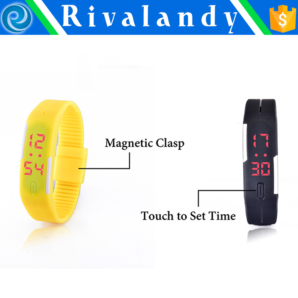 Healthy Wholesales Promotional OEM Sport Cheap Promotion Digital Silicone Bracelet Watch